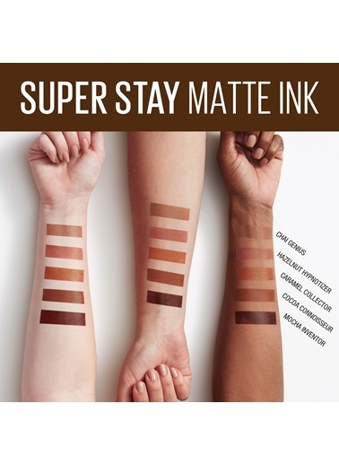 Maybelline Maybelline New York 255 Chai Genius Super Stay Matte Ink Kalıcı Likit Mat Ruj Kahve